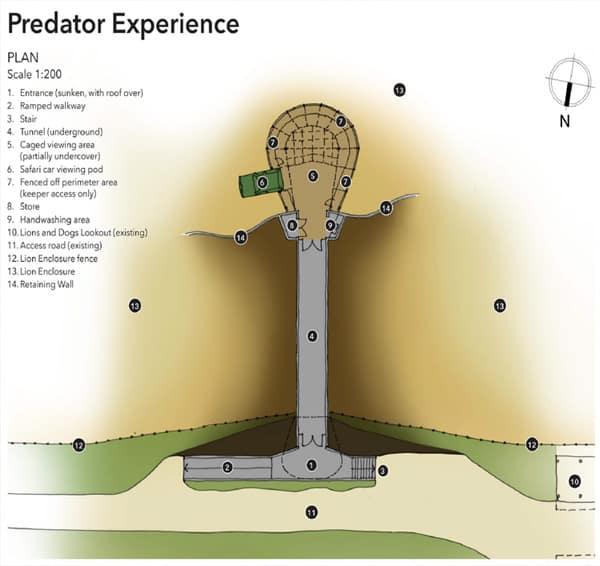 Predator experience top view